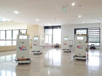 Robot Vibot-2 phục vụ trong khu cách ly bệnh nhân Covid-19